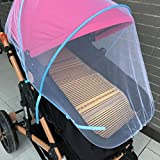 Creazy Baby Stroller Mosquito Net Full Insect Cover Carriage Kid Foldable Kids Netting (Pink)