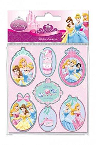 1art1 Set: Walt Disney, Princesses, Metal Edged Set di Sticker (15x10 cm) E 1 Sticker Sorpresa