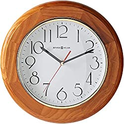 Howard Miller Grantwood Wall Clock 620-174 - Champagne Oak & Round with Quartz Movement
