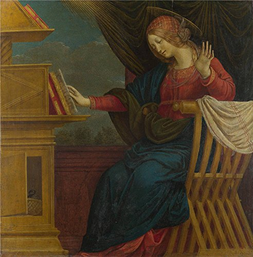 Oil Painting 'Gaudenzio Ferrari - The Annunciation - The Virgin Mary,before 1511' 24 x 24 inch / 61 x 62 cm , on High Definition HD canvas prints is for Gifts And Basement, Bath Room And Dinin (Gladiator Costume Sword And Sheath)