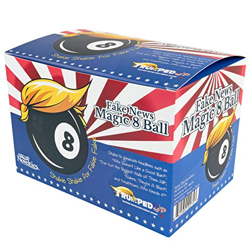 Fairly Odd Novelties The The Fake News Magic 8 BAL - Hilarious Novelty Political White Elephant Gag Gift Box, Better Than Funny Wrapping Paper!