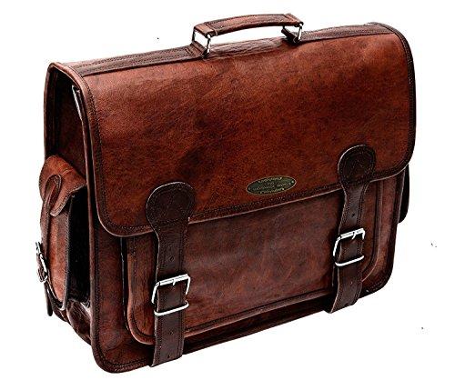 Handmade_World Messenger Shoulder Computer Briefcase