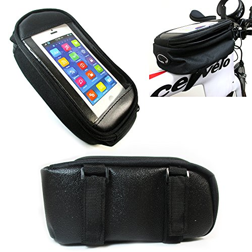 Bike Saddle Bag Waterproof Bicycle Front Tube Strap On Pouch Cycling Storage GPS