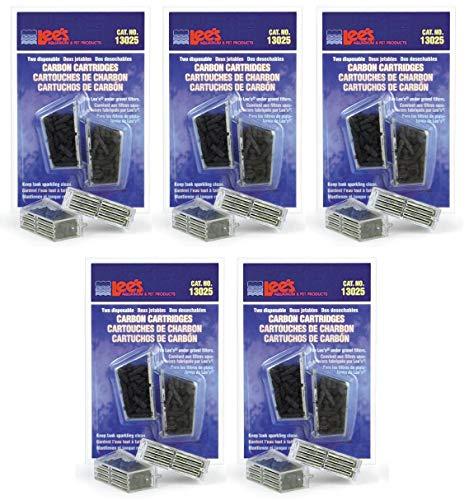 (Lee's 10 Pack of Carbon Cartridge, Disposable, for Aquarium Filters)