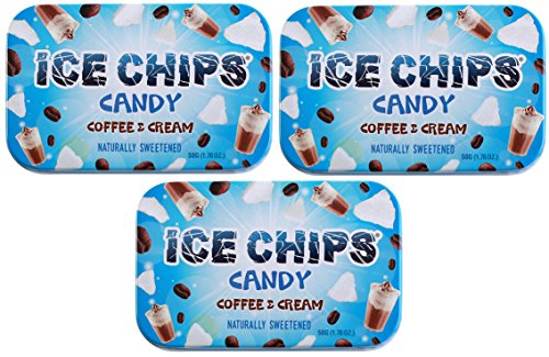 ICE CHIPS Xylitol Candy Tins (Coffee & Cream, 3 Her business a get)