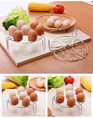WINMI 3 Pack Egg Steaming Rack Stand Stainless Steel Steamer Racks and Egg Steamer Rack for Pressure Cooker Kitchen Cooking Steaming Holder Rack Stand Basket Set Egg Cooker Eggassist