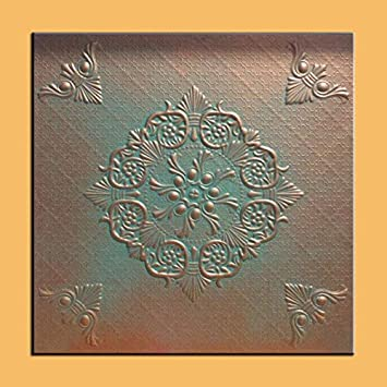 Antique Ceilings Inc – Savona Copper Patina – Styrofoam Ceiling Tile Package of 10 Tiles