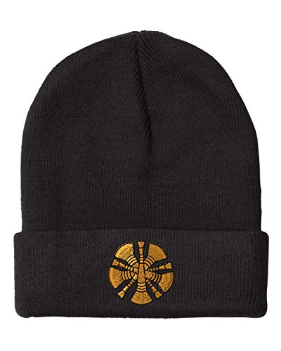 Chief Firefighter Embroidery Embroidered Beanie Skully Hat Cap Black - Black Fire Chief Hat
