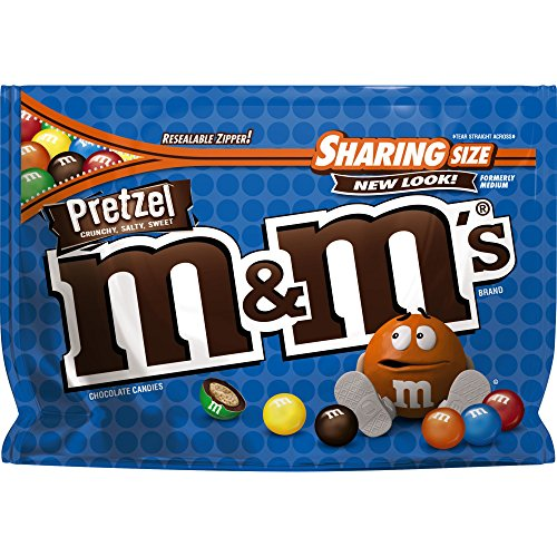 M&M'S Pretzel Chocolate Candy Sharing Size 8-Ounce Bag (Pack of 8) -
