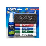 EXPO Low-Odor Dry Erase Set, Chisel Tip, Assorted Colors, 6-Piece
