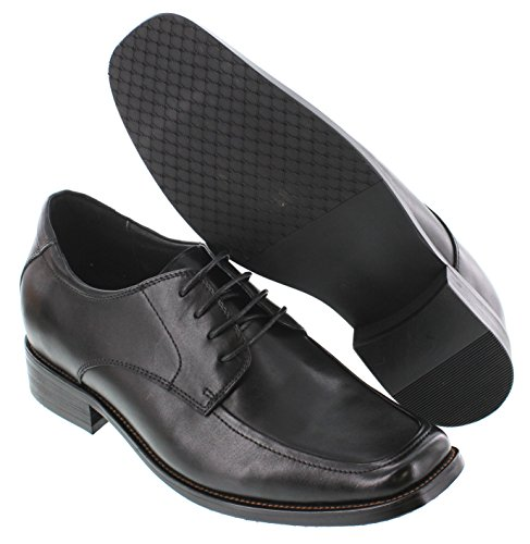 CALTO T5433-2.6 inches Taller - Height Increasing Elevator Shoes - Black Leather Lace-up Dress Shoes buy cheap visit new cheap many kinds of qa879L