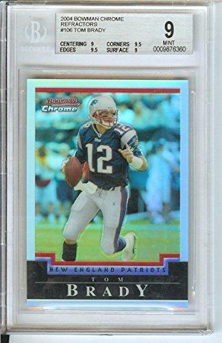 Football NFL 2004 Chrome Refractors #106 Tom Brady 401/500 Patriots by Bowman Chrome