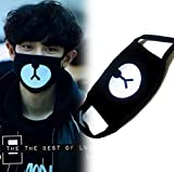 heartybay Motorcycle Face Masks Unisex Exo All Members Black Mask Exo Mask Kpop Mask 16 Types (Bear-EXO)