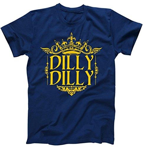 Dilly Dilly Gold Crown Logo T-Shirt Navy 3XL ()