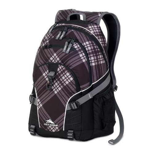 High Sierra Loop Backpack (19 x 13.5 x 8.5-Inch, Black Plaid), Outdoor Stuffs