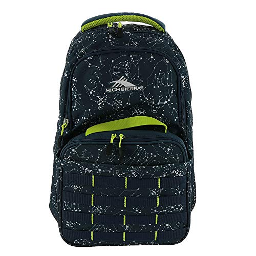 High Sierra Unisex Joel Lunch Kit Backpack Space Creatures/Rust Blue/Glow One Size