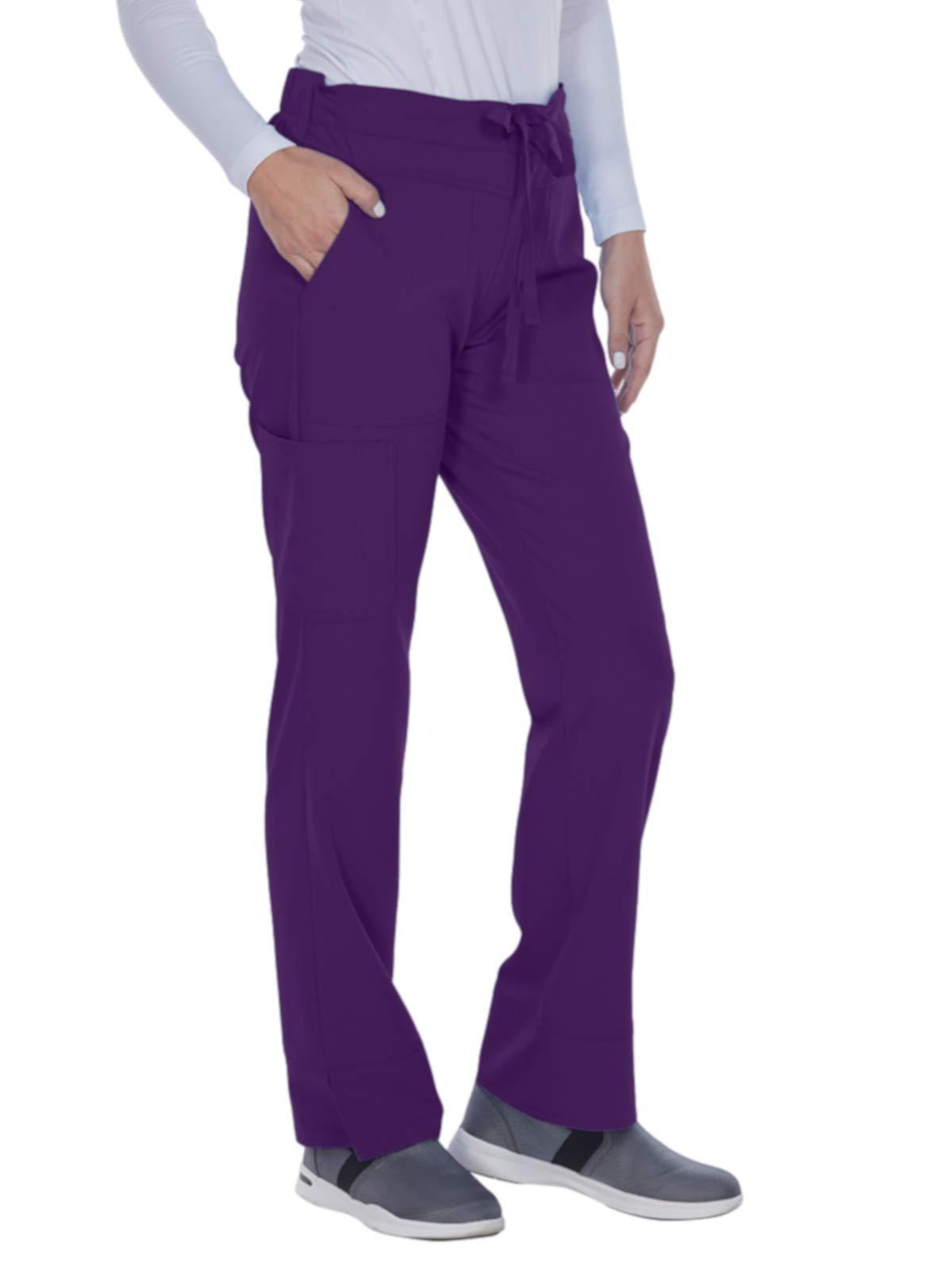 Grey's Anatomy Signature 2207 Callie Low Rise Pant Plush Purple XL Tall