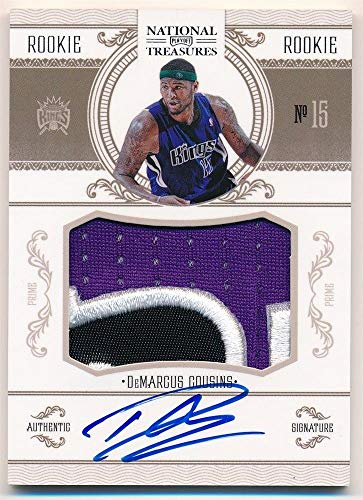 BIGBOYD SPORTS CARDS Demarcus Cousins 2010/11 National Treasures RC Autograph 3 Color Patch AUTO #/99 -