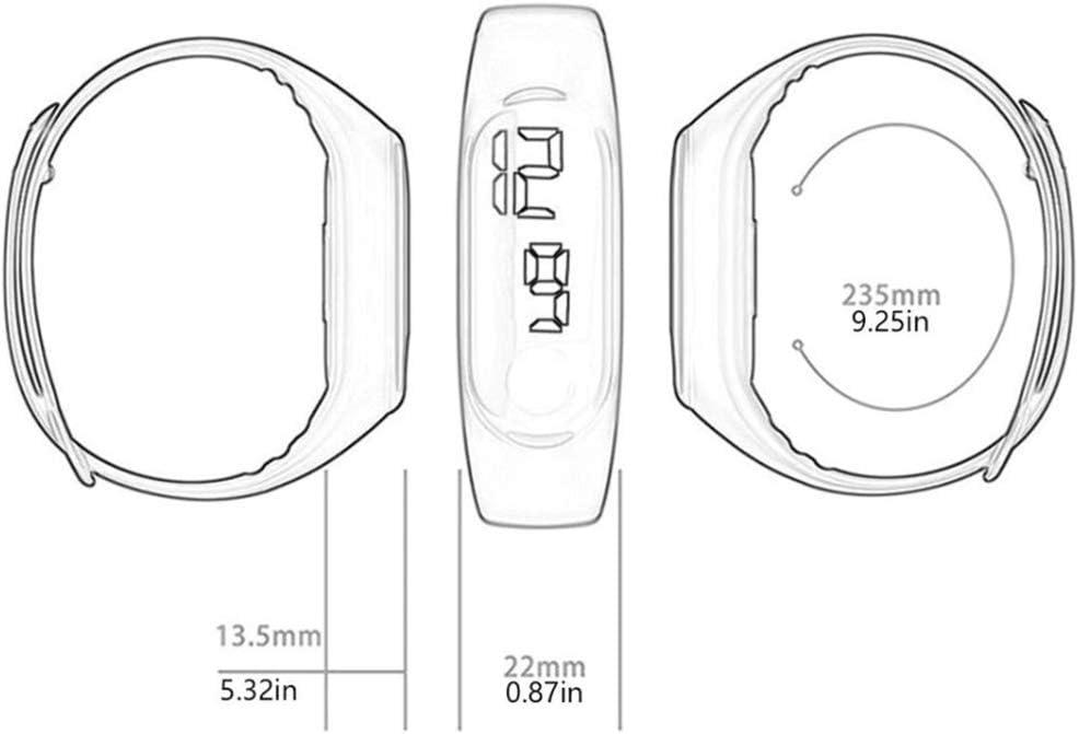 AKDSteel Montre électronique à LED pour Couple Style décontracté Sport Touch Millet 3 Rose