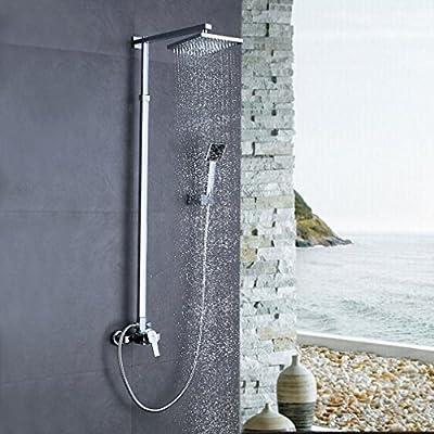 Auralum® Panel de ducha columna de ducha (20 x 20 cm para Cuarto ...