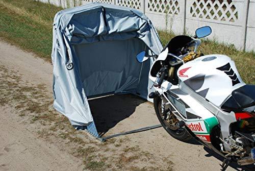 Motorradgarage Faltgarage Motorrad Roller Moped Garage Schutzplane Zelt Grau L