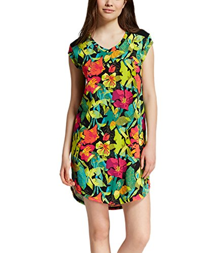 Xhilaration Green - Xhilaration Women's Cap Sleeve Sleep Shirt (M, Floral Green/Multi)
