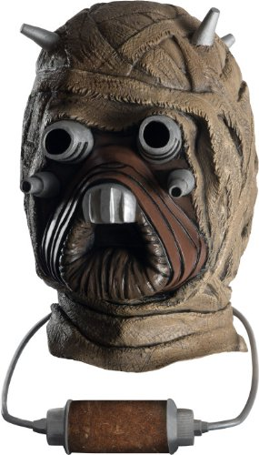 Halloween Tusken Costume Raider (Star Wars Tusken Raider Deluxe Overhead Latex Mask, Brown, One)