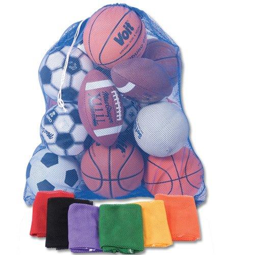 BSN Sports Heavy-Duty Mesh Equipment Bag, Purple