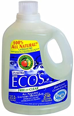 Earth Friendly Products Ecos Liquid Laundry Detergent, Free and Clear, 210 Ounce by Earth Friendly Products