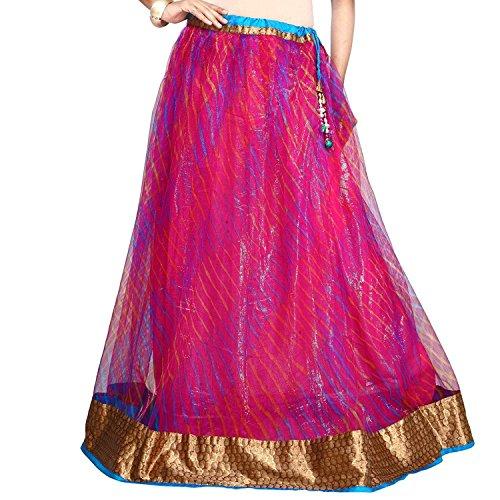 Indian Handicrfats Export Admyrin Women Hot Pink Net Skirt