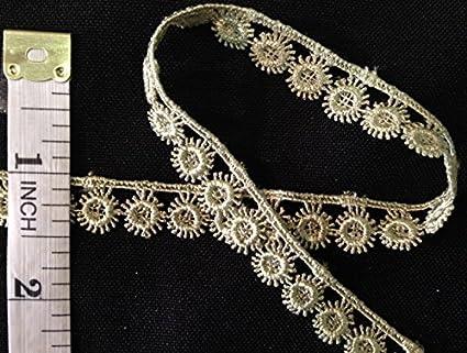 Sage Multi-Use ex Choose Color Trim Lace Floral 1//2 Wide Double Border Venise 5 Yards Garments Bridals Decorations Crafts Costumes Scrapbooks