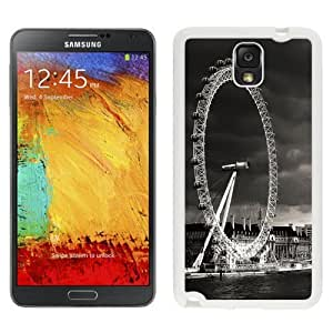 NEW Unique Custom Designed For Case HTC One M8 Cover Phone Case With London Eye Black And White_White Phone Case