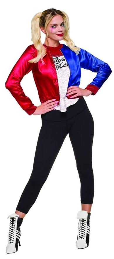 Rubies Kit de disfraz para chicas de Harley Quinn (talla grande), oficial del Escuadrón Suicida s