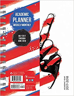 2018 academic year america monthly planner
