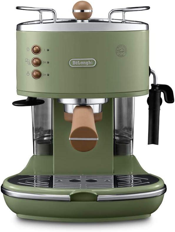 DeLonghi ECOV 311.GR Cafetera automática independiente, 1100 W, 1,4 L, 15 bares, acero inoxidable, verde: Amazon.es: Hogar