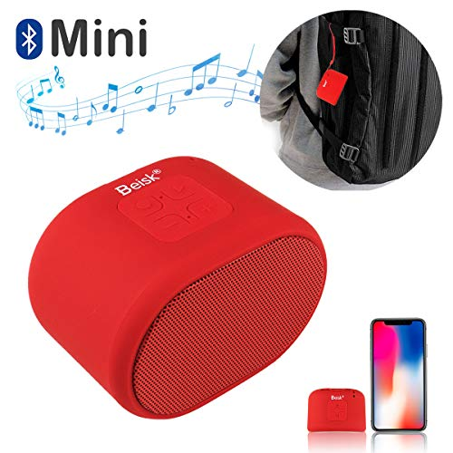 Beisk, Mini Altavoz Bluetooth Portátil, con 8-10 Horas de Reproducción, Sonido Estéreo 360º, Radio FM, TWS, Ideal para…