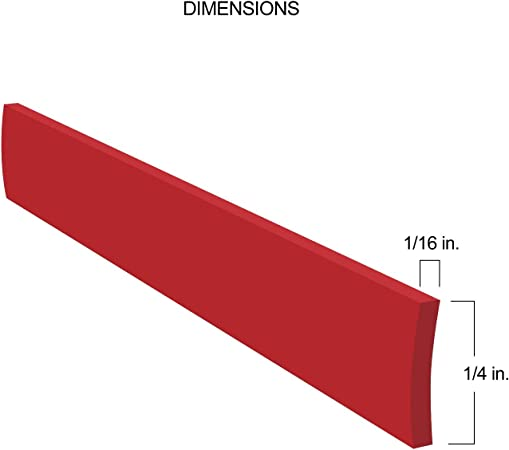 Red Auto-Body Molding Trim for Car SUV Truck Exteriors 8/' Feet Long