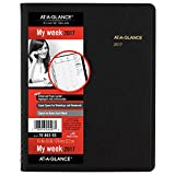 AT-A-GLANCE Weekly Appointment Book / Planner 2017, 6-7/8 x 8-3/4', Black (70-865-05)