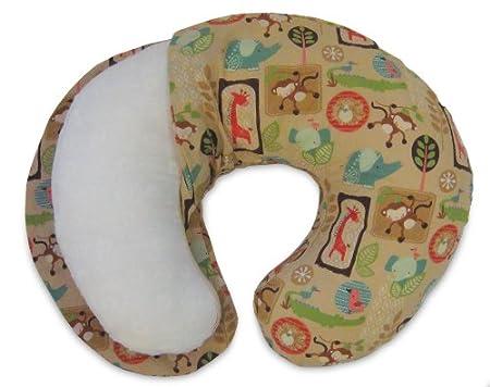 Boppy Original Nursing Pillow Slipcover Cotton Blend Fabric Watercolor Animals