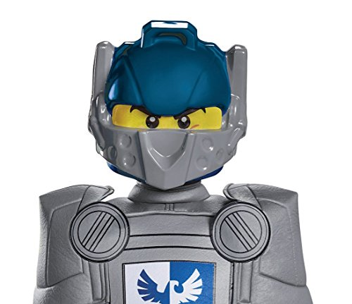 Knight Costumes Mask (Clay LEGO Nexo Knights LEGO Mask, One Size Child)