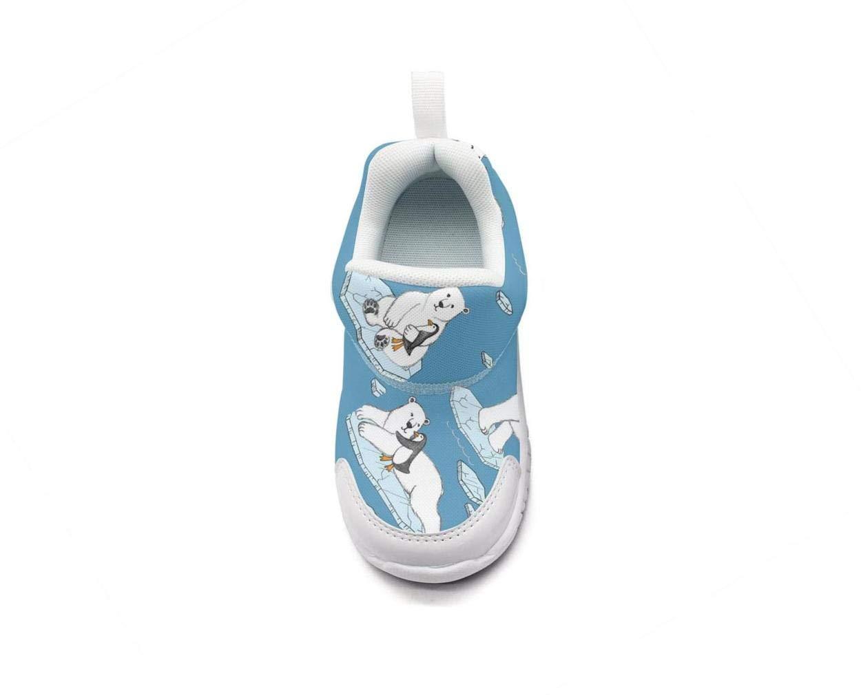 ONEYUAN Children Polar Bear Penguin Friend Kid Casual Lightweight Sport Shoes Sneakers Running Shoes