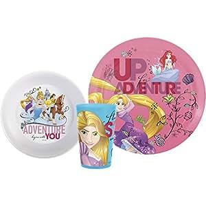 Amazon Com Zak Designs Disney Princess Plate Bowl Amp Cup