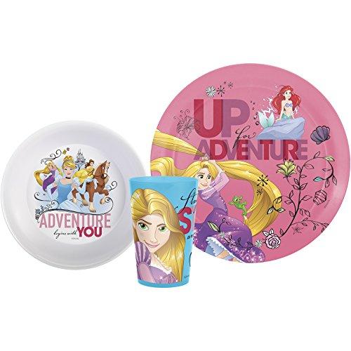 Zak Designs PRXO-0391-H Disney Princess Plate, Bowl & Tumbler, 3 - Disney Dinnerware Princess Set