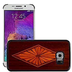 Hot Style Cell Phone PC Hard Case Cover // M00153243 Marquetry Marqueterie Inlay // Samsung Galaxy S6 EDGE (Not Fits S6)