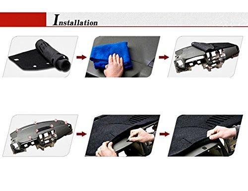 TOYOTA New COROLLA Year 2014-2016, Black FLY5D/® DashMat Car Carpet Dashboard Sun Cover Pad Dash Mat for TOYOTA New COROLLA Year 2014-2016