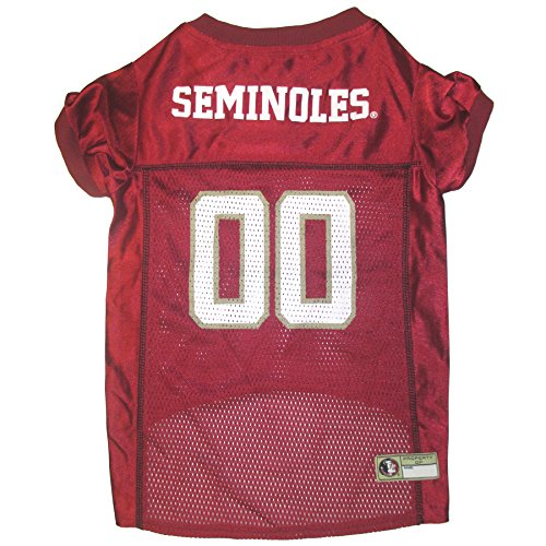 Pets First Collegiate Florida State University Dog Mesh Jersey, X-Large