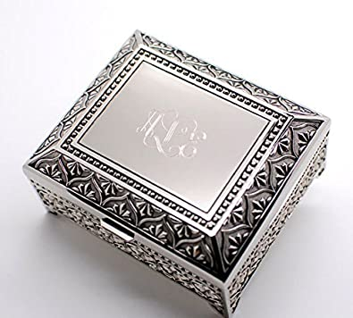 Buy Personalized Jewelry Box Engraved 4 Inch Antique Jewelry Box
