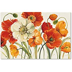 """Poppies Melody I Wall Decor by Lisa Audit, 16"""" x 24"""" Canvas Wall Art"""