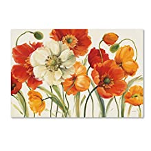 "Trademark Fine Art Poppies Melody I Wall Decor by Lisa Audit, 22"" x 32"" Canvas Wall Art"