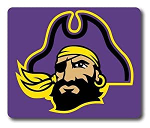 East Carolina Pirates on Purple Rectangle Mouse Pad by eeMuse